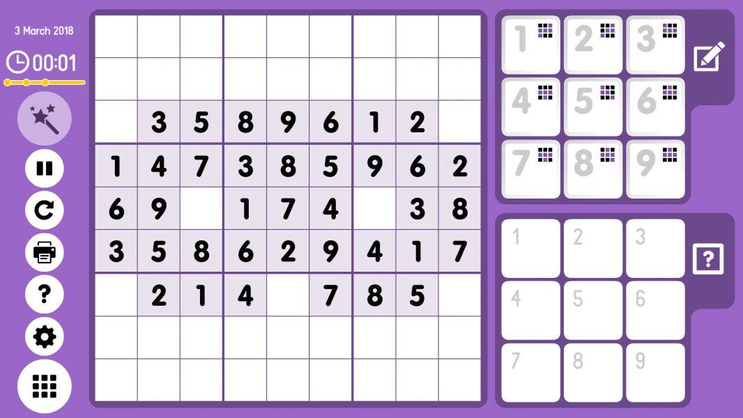 Level 2018-03-03. Online Sudoku