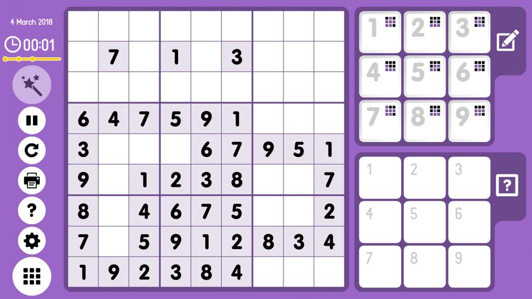 Level 2018-03-04. Online Sudoku