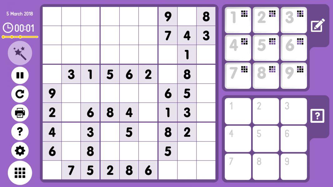 Level 2018-03-05. Online Sudoku