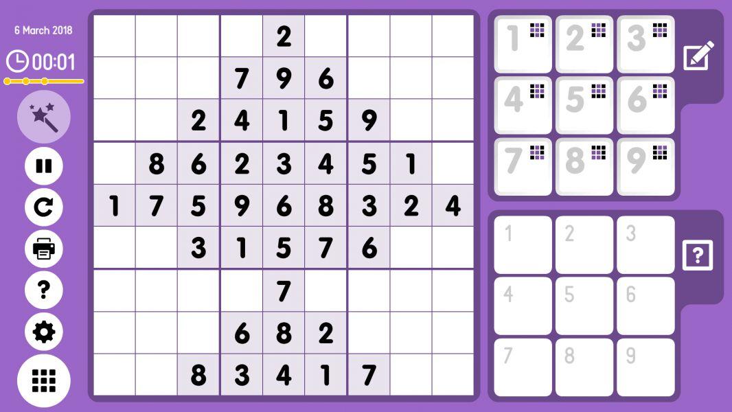 Level 2018-03-06. Online Sudoku
