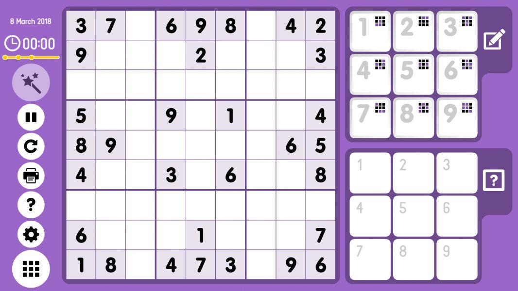 Level 2018-03-08. Online Sudoku