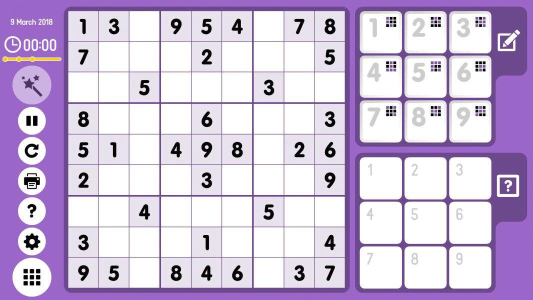 Level 2018-03-09. Online Sudoku