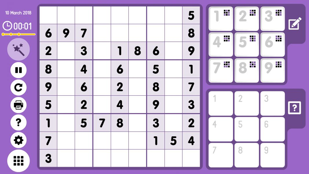 Level 2018-03-10. Online Sudoku