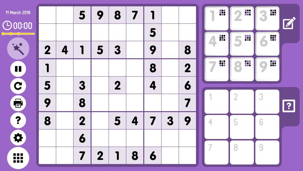 Level 2018-03-11. Online Sudoku