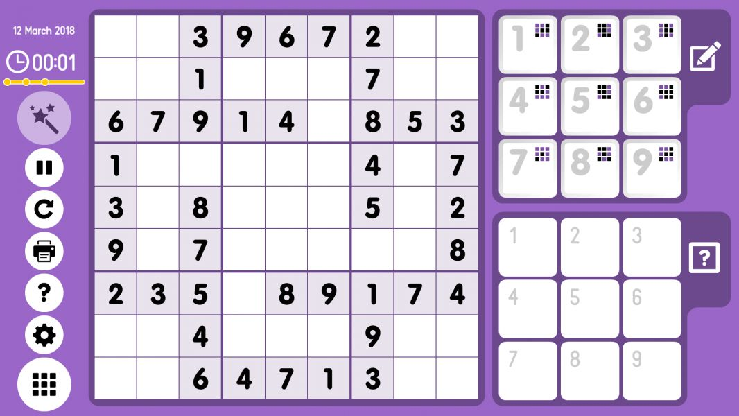 Level 2018-03-12. Online Sudoku