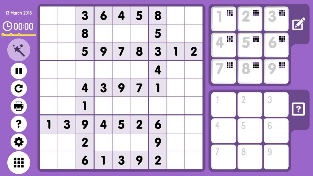 Level 2018-03-13. Online Sudoku