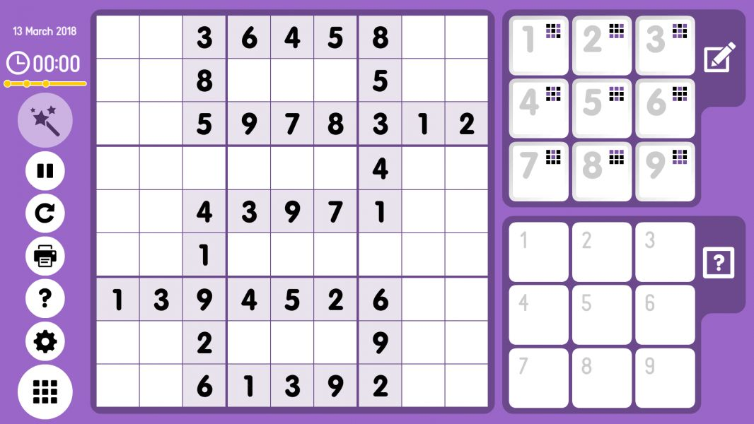 Level 2018-03-14. Online Sudoku