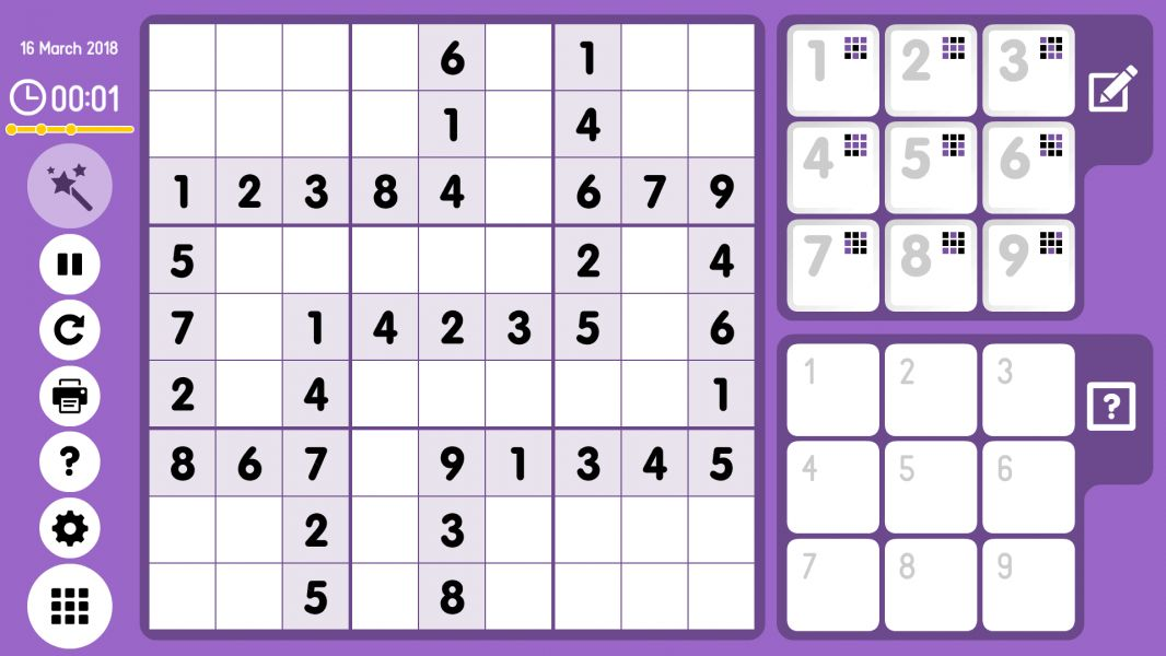 Level 2018-03-16. Online Sudoku