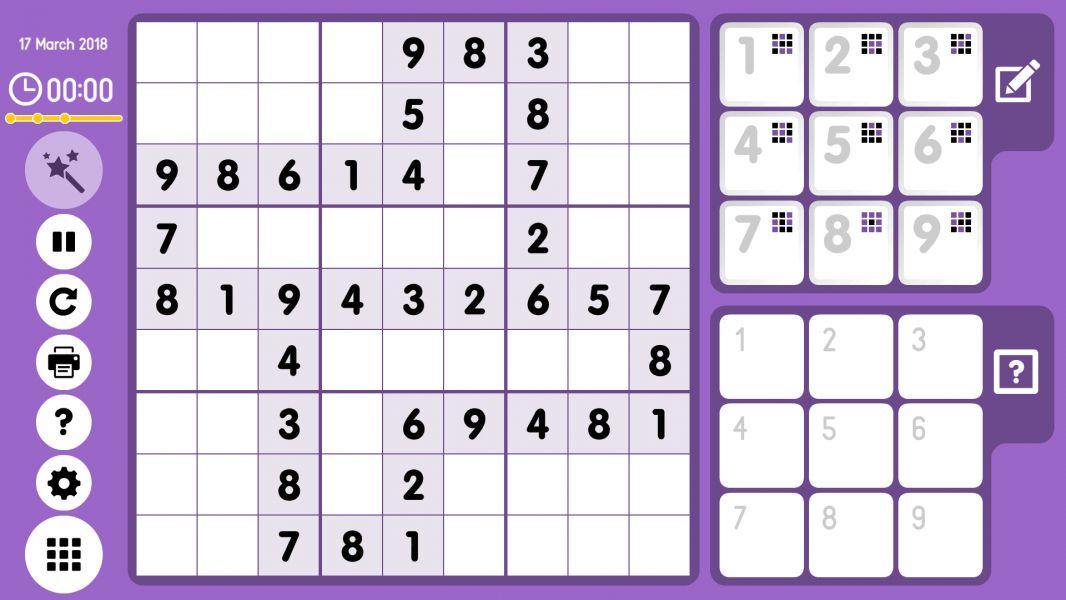 Level 2018-03-17. Online Sudoku