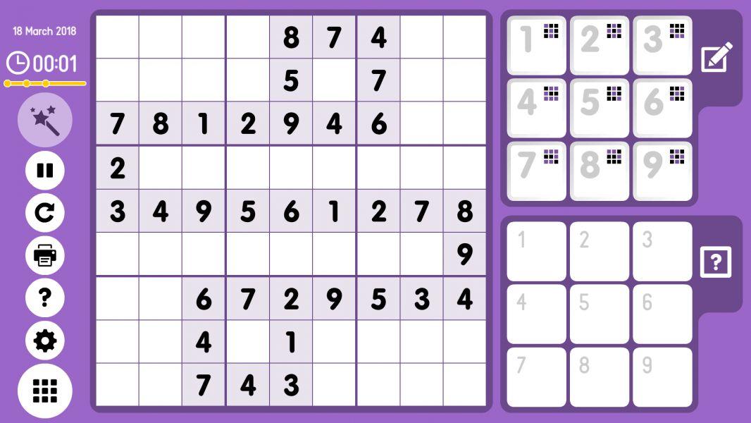 Level 2018-03-18. Online Sudoku