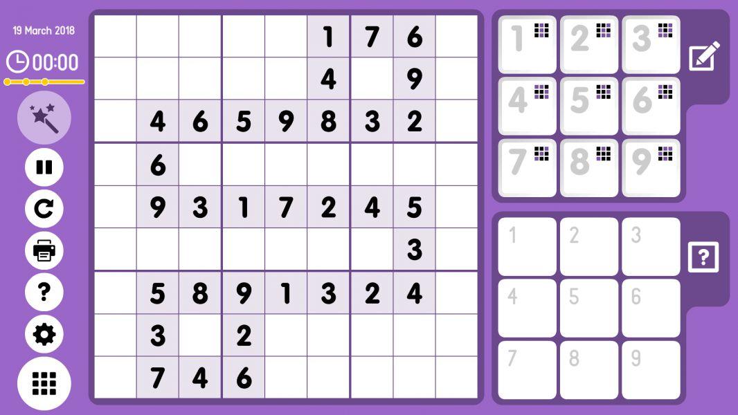 Level 2018-03-19. Online Sudoku