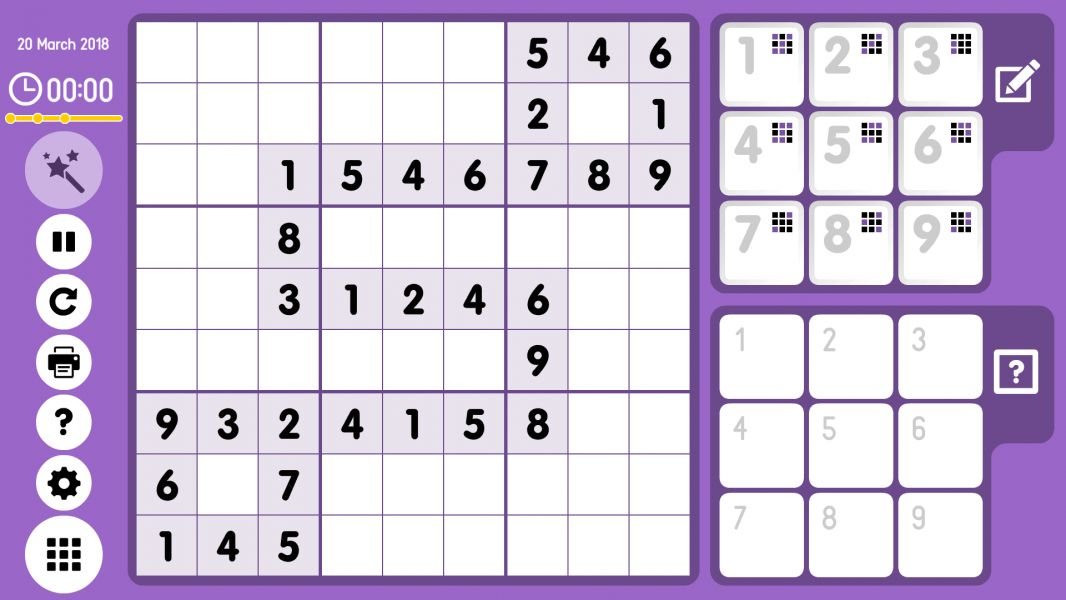 Level 2018-03-20. Online Sudoku