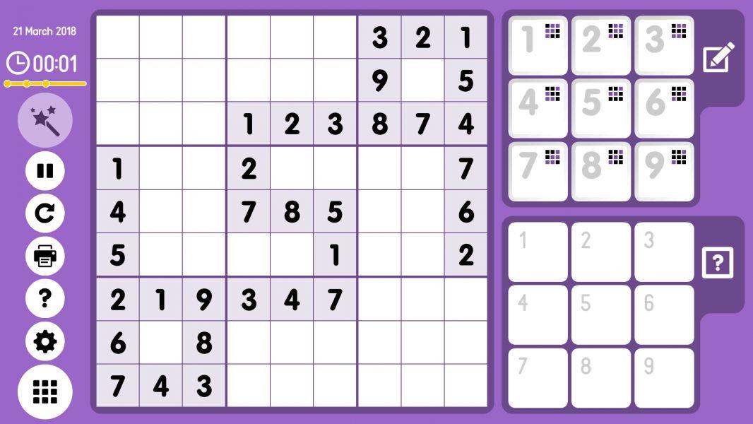 Level 2018-03-21. Online Sudoku