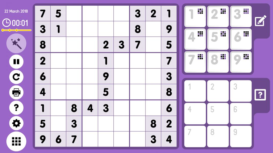 Level 2018-03-22. Online Sudoku