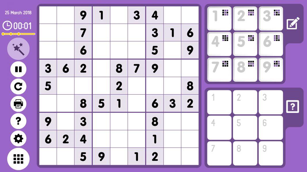 Level 2018-03-25. Online Sudoku