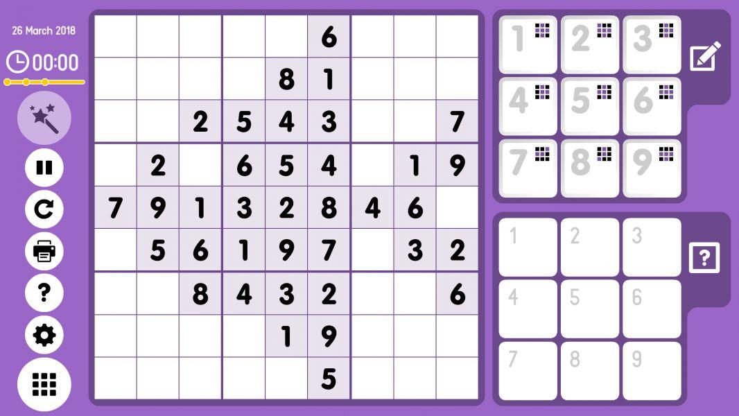 Level 2018-03-26. Online Sudoku