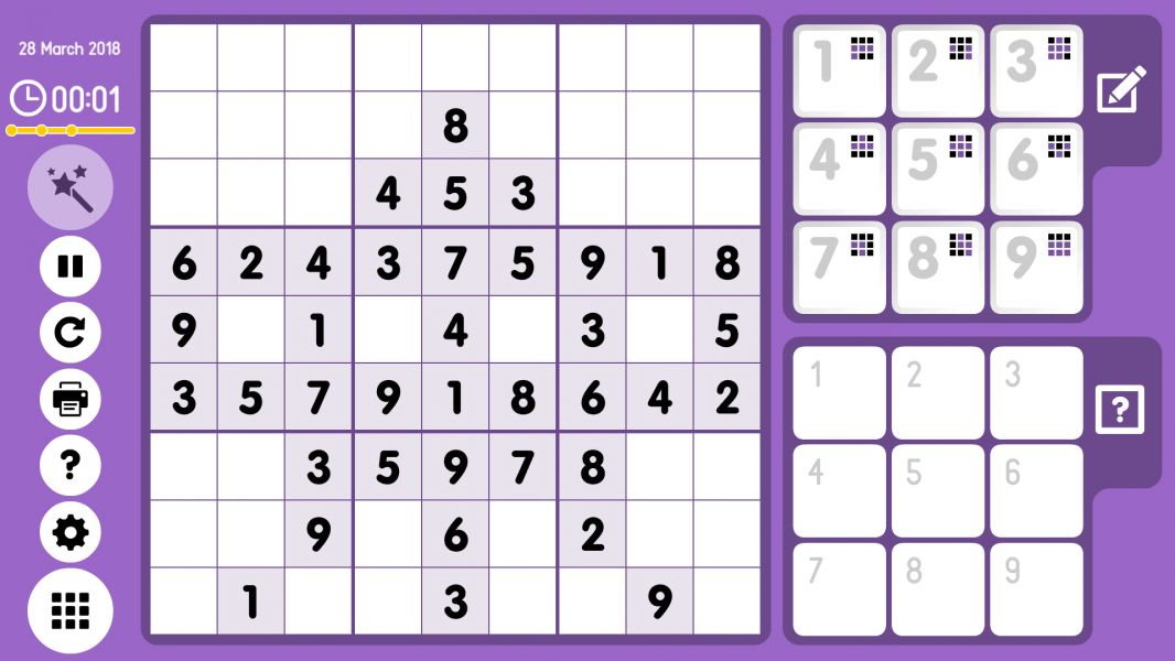 Level 2018-03-28. Online Sudoku