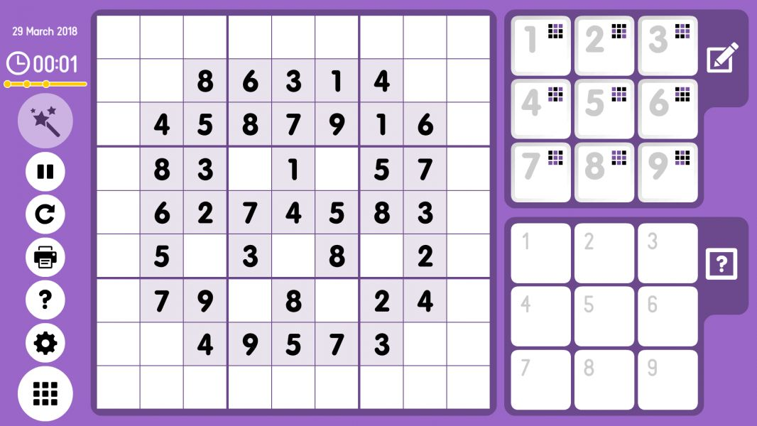 Level 2018-03-29. Online Sudoku