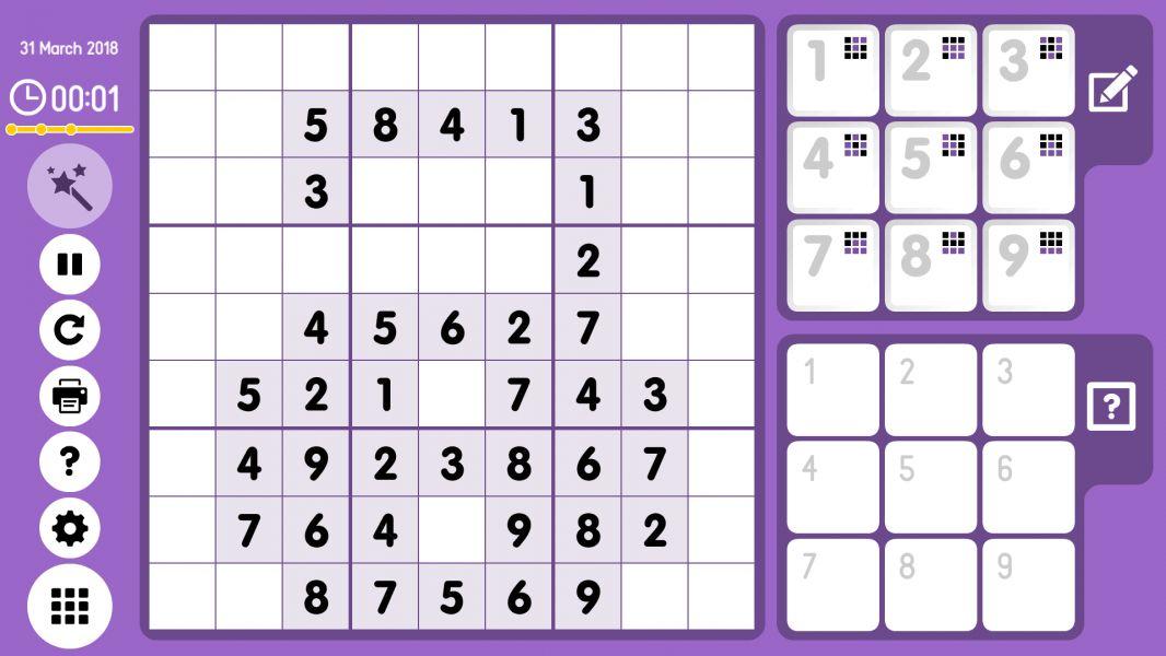 Level 2018-03-31. Online Sudoku