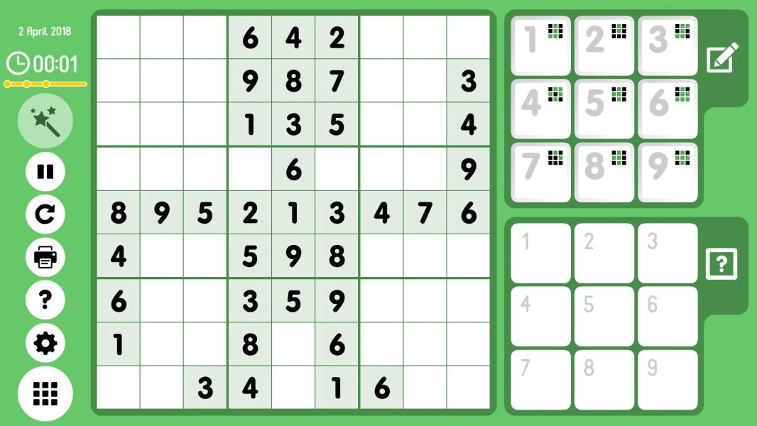 Level 2018-04-02. Online Sudoku