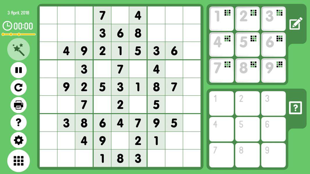 Level 2018-04-03. Online Sudoku