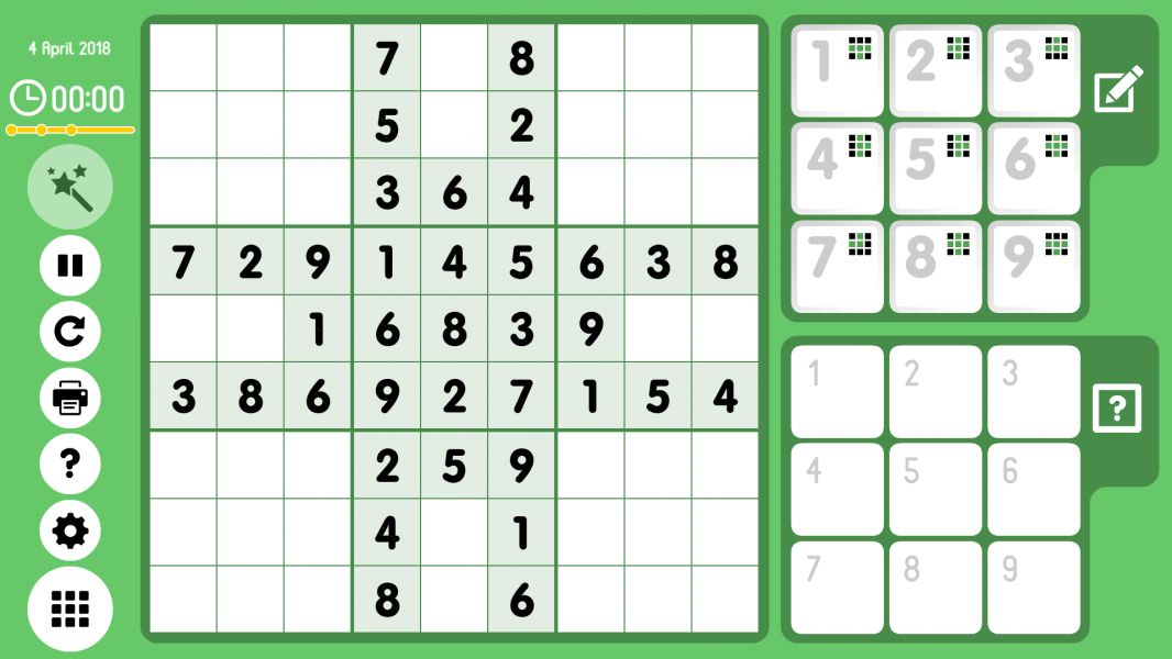 Level 2018-04-04. Online Sudoku