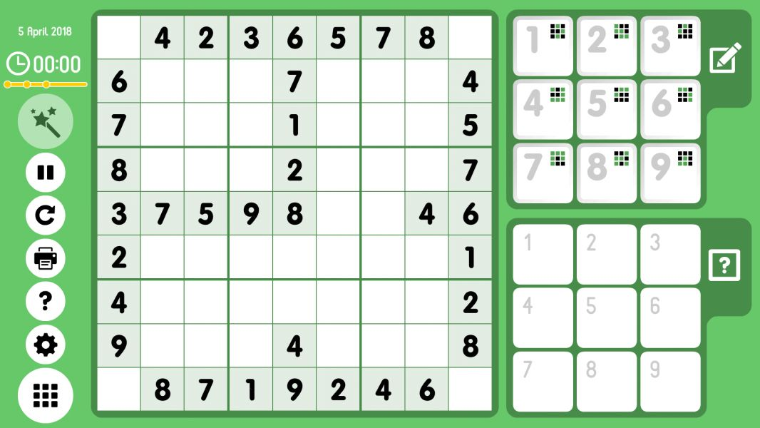 Level 2018-04-05. Online Sudoku