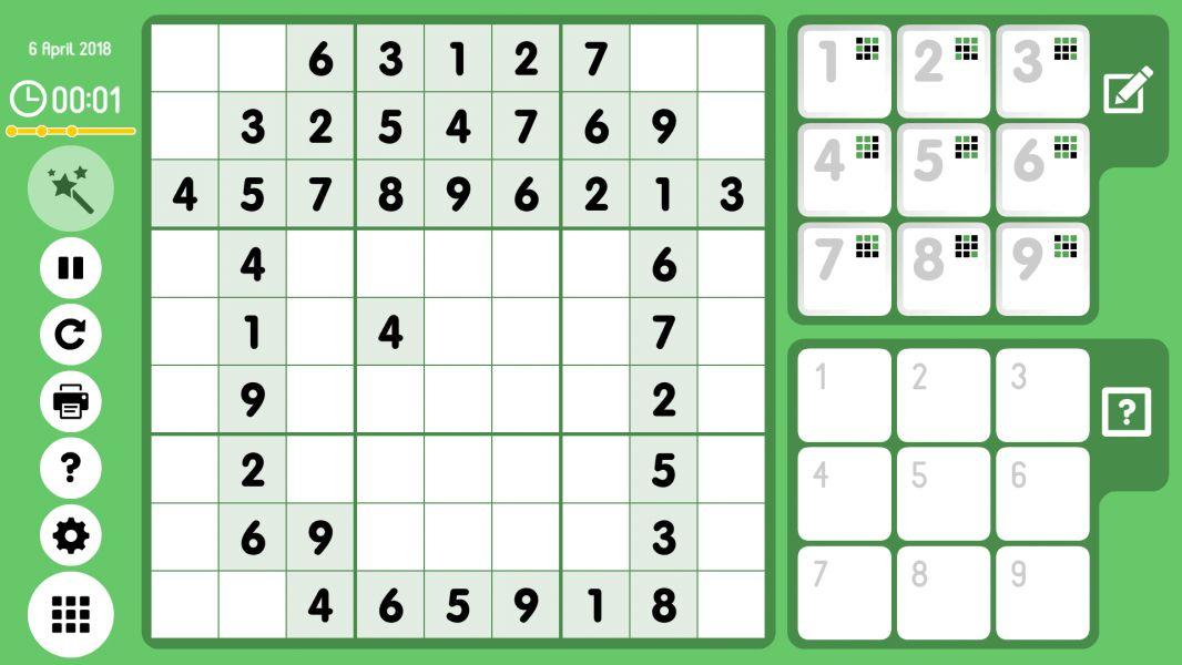 Level 2018-04-06. Online Sudoku