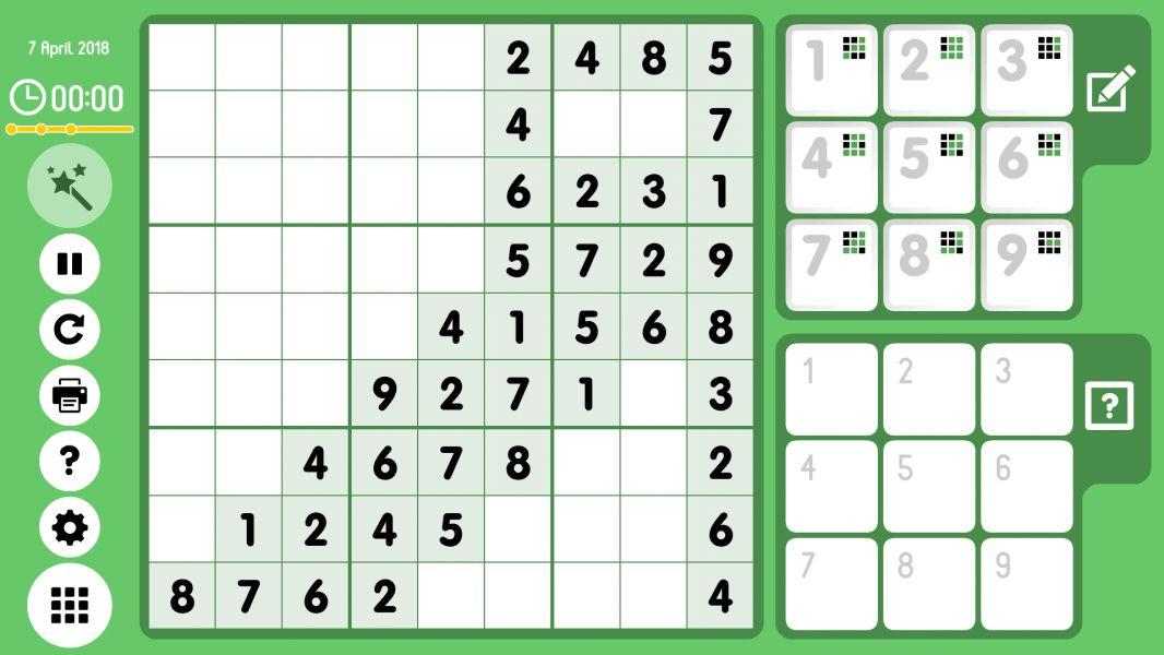 Level 2018-04-07. Online Sudoku