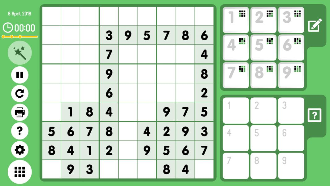 Level 2018-04-08. Online Sudoku