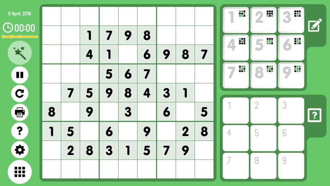Level 2018-04-09. Online Sudoku