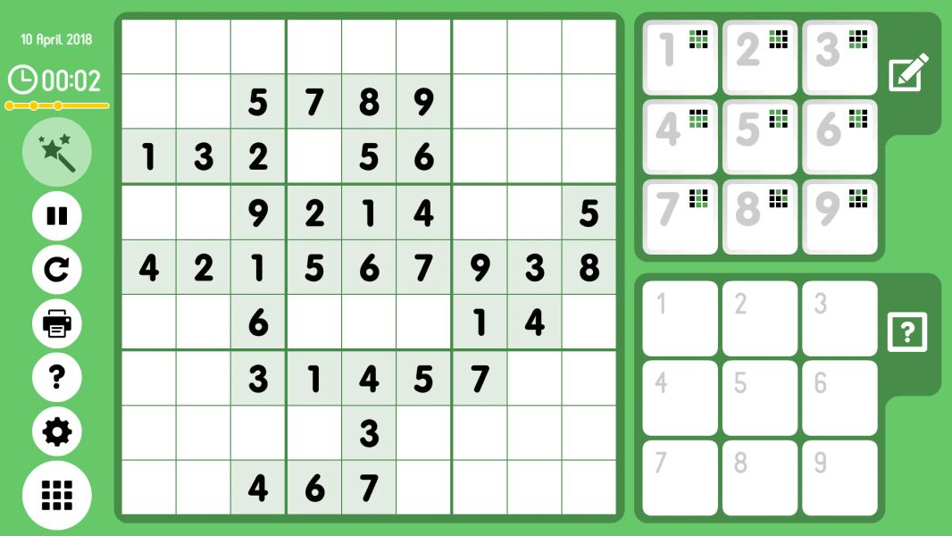 Level 2018-04-10. Online Sudoku