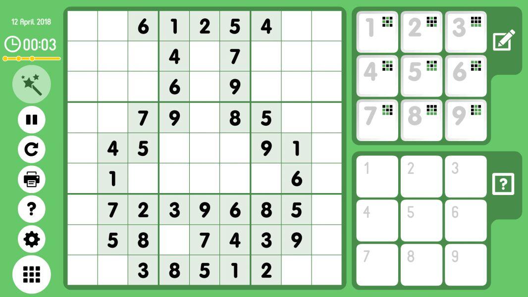 Level 2018-04-12. Online Sudoku