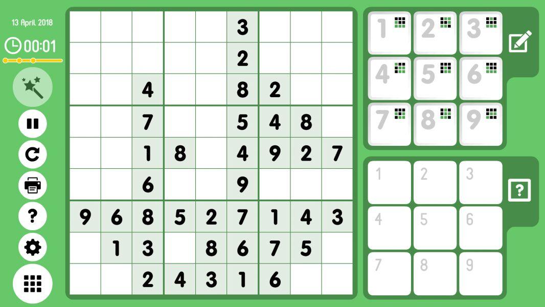 Level 2018-04-13. Online Sudoku