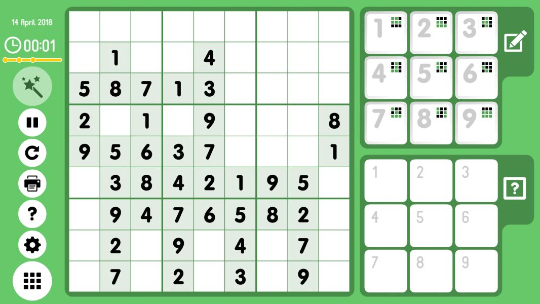 Level 2018-04-14. Online Sudoku