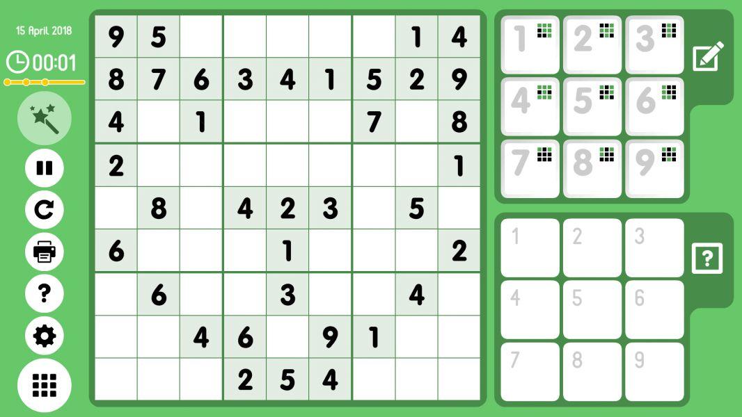 Level 2018-04-15. Online Sudoku