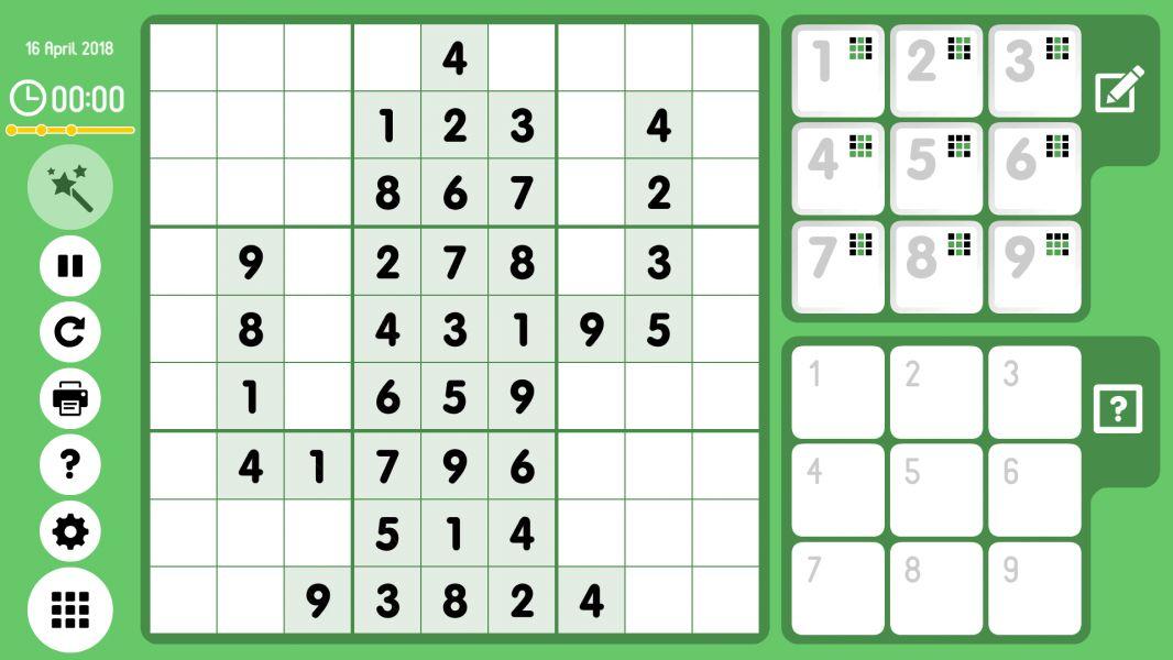 Level 2018-04-16. Online Sudoku