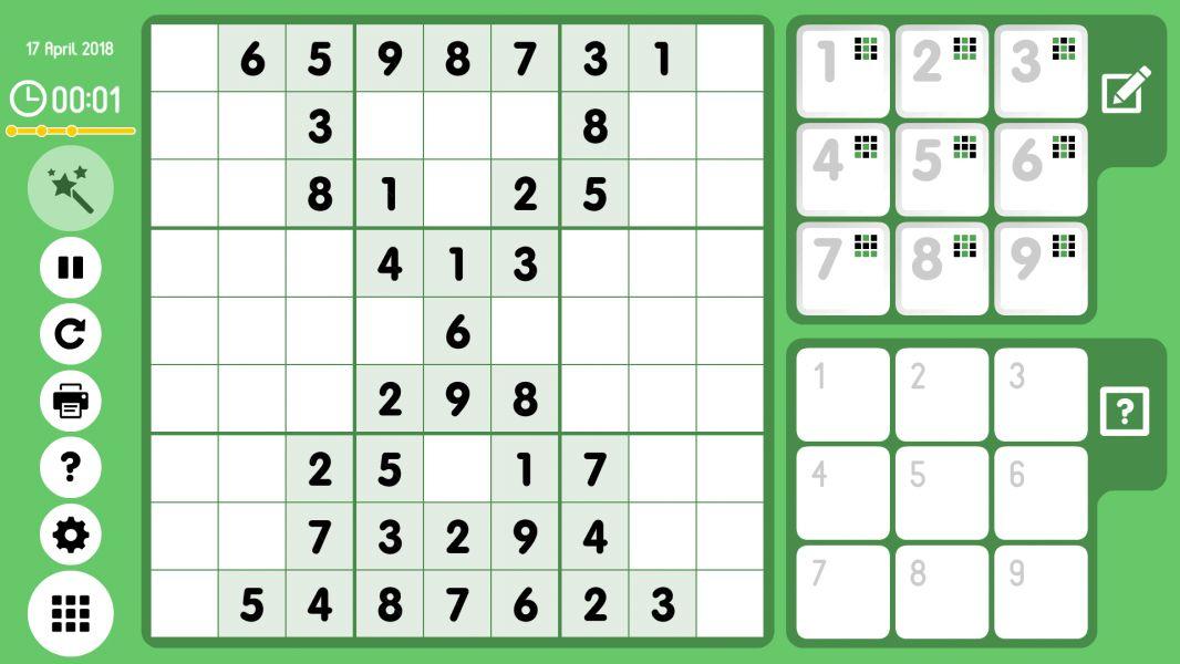 Level 2018-04-17. Online Sudoku