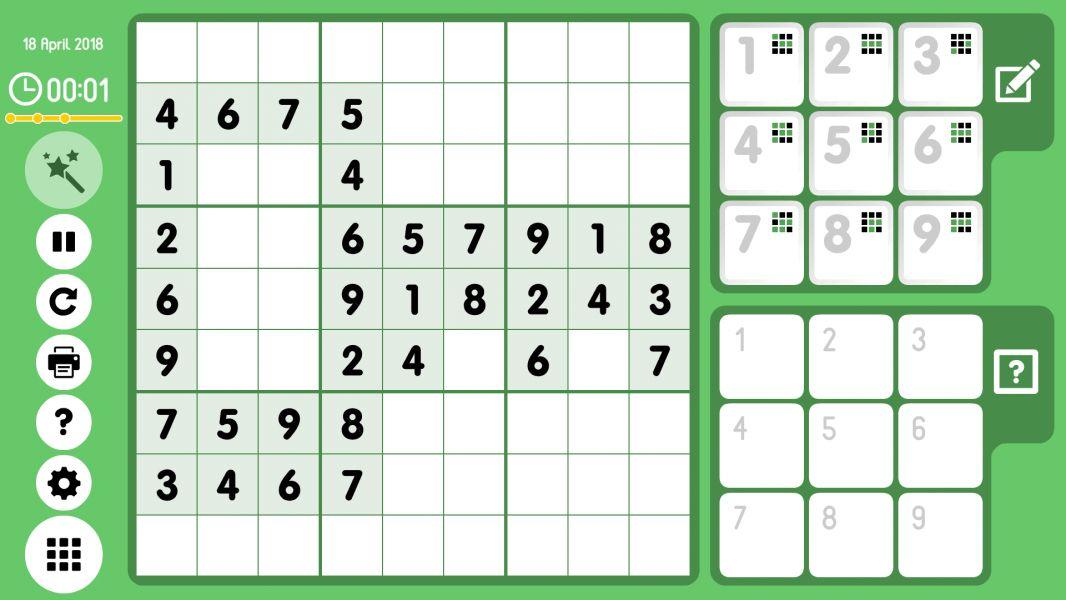Level 2018-04-18. Online Sudoku