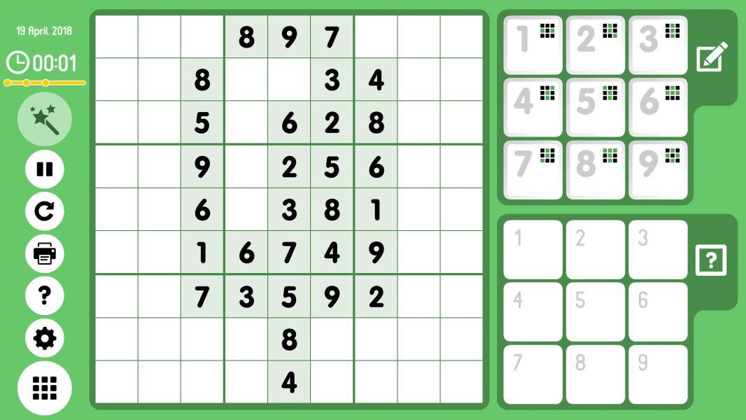 Level 2018-04-19. Online Sudoku