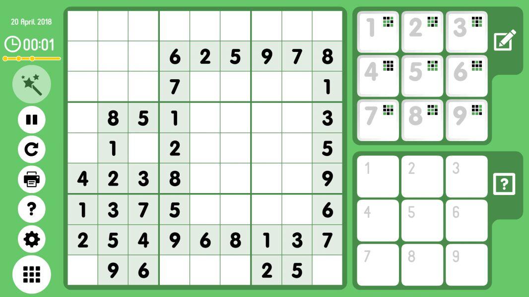 Level 2018-04-20. Online Sudoku