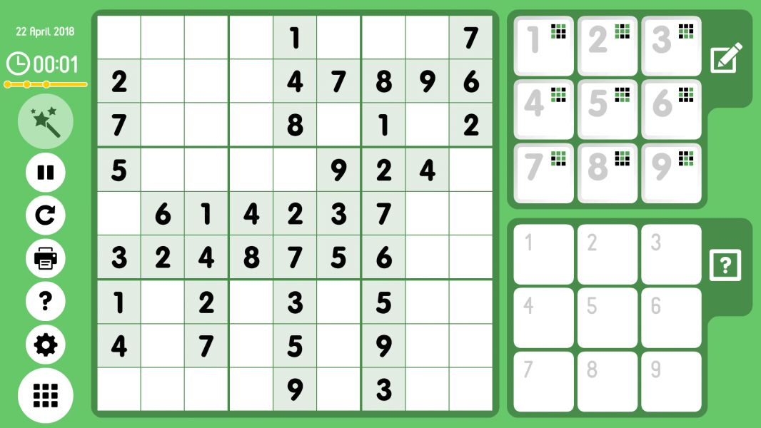Level 2018-04-22. Online Sudoku