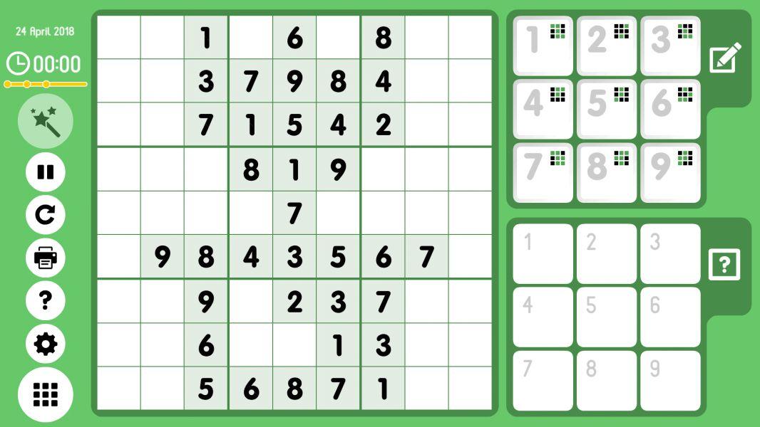 Level 2018-04-24. Online Sudoku