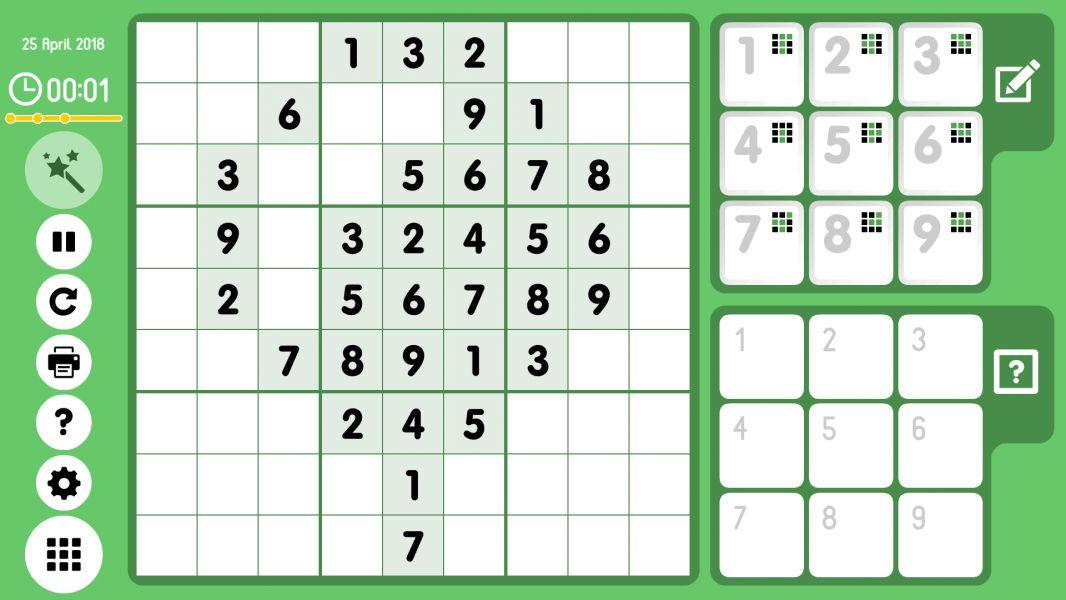 Level 2018-04-25. Online Sudoku