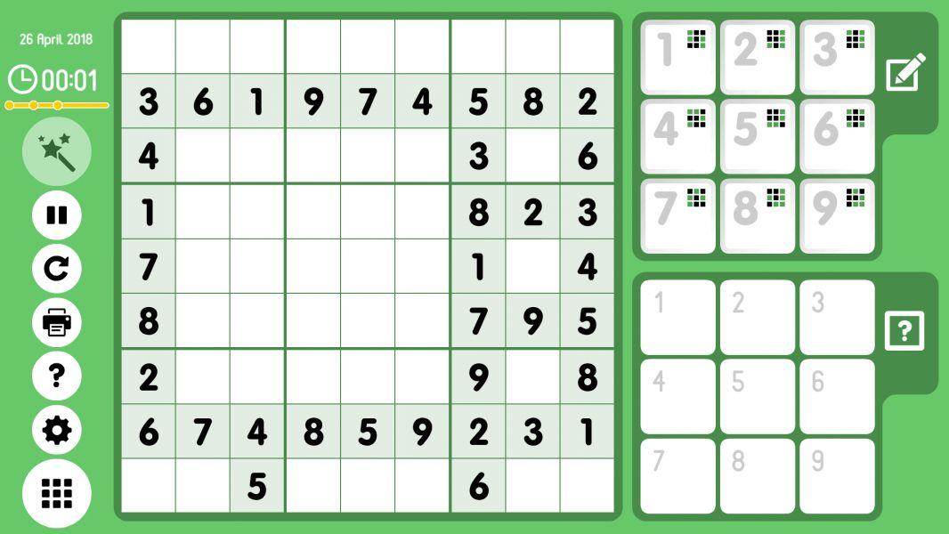 Level 2018-04-26. Online Sudoku