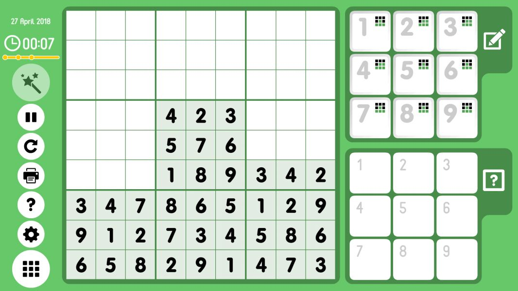 Level 2018-04-27. Online Sudoku