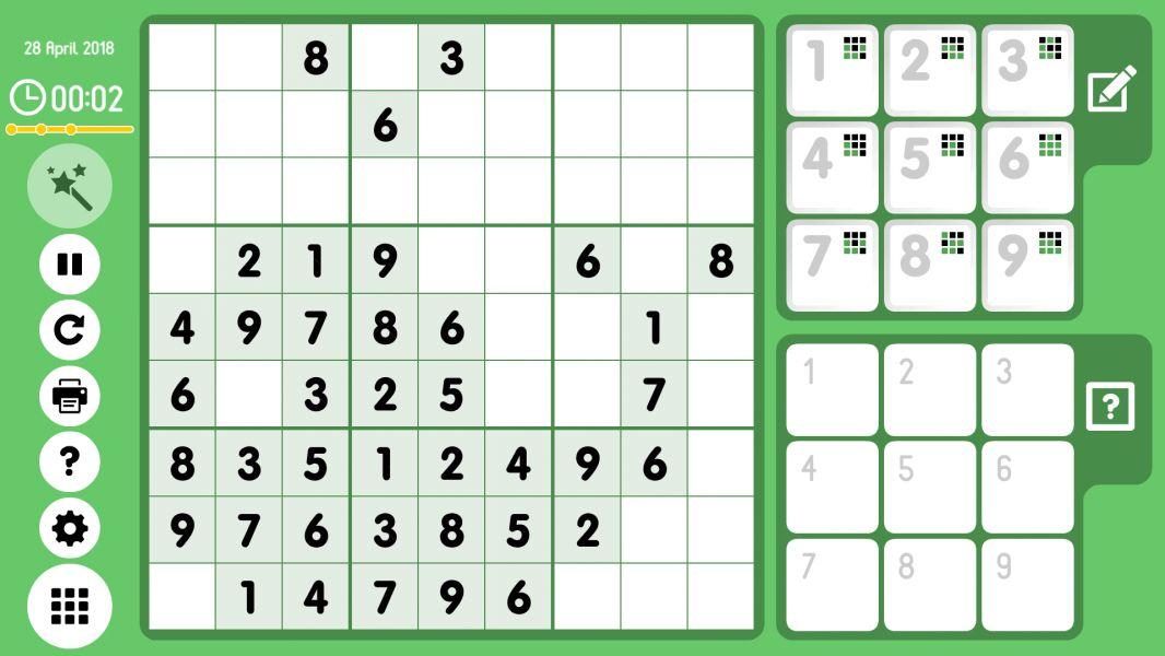 Level 2018-04-28. Online Sudoku