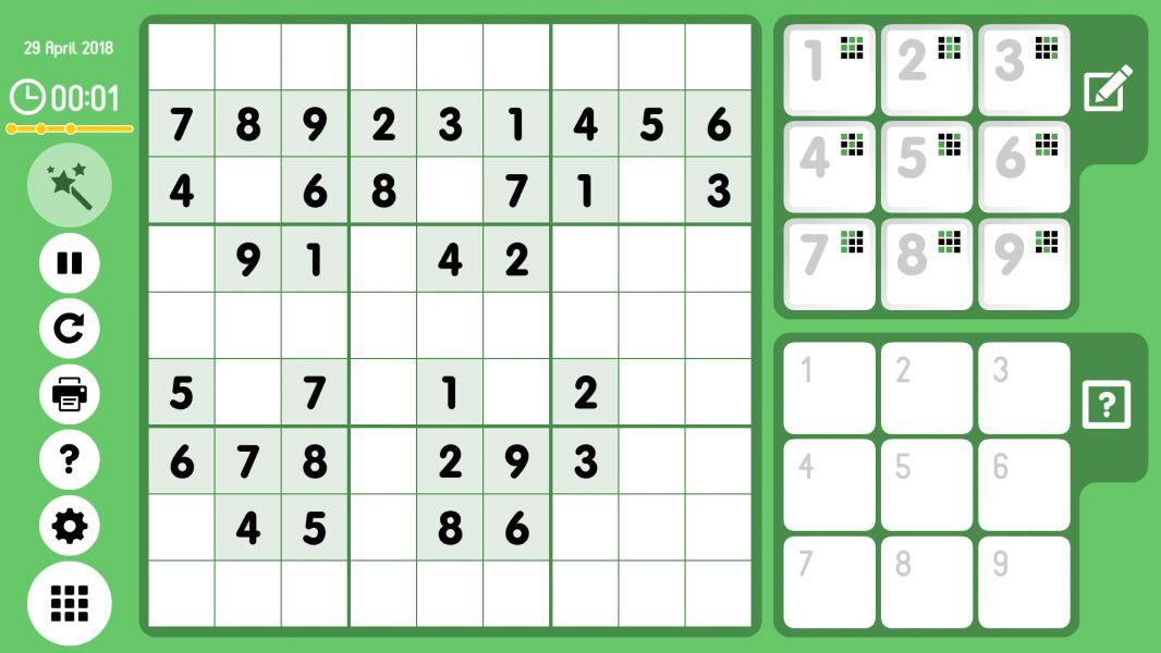 Level 2018-04-29. Online Sudoku
