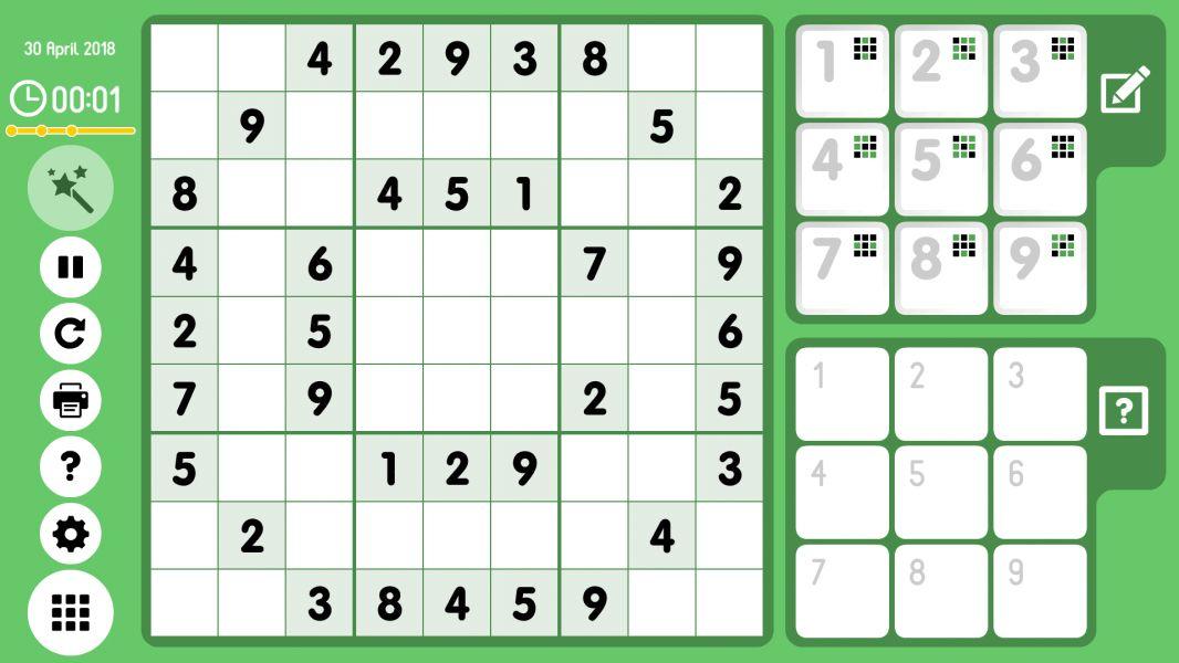 Level 2018-04-30. Online Sudoku