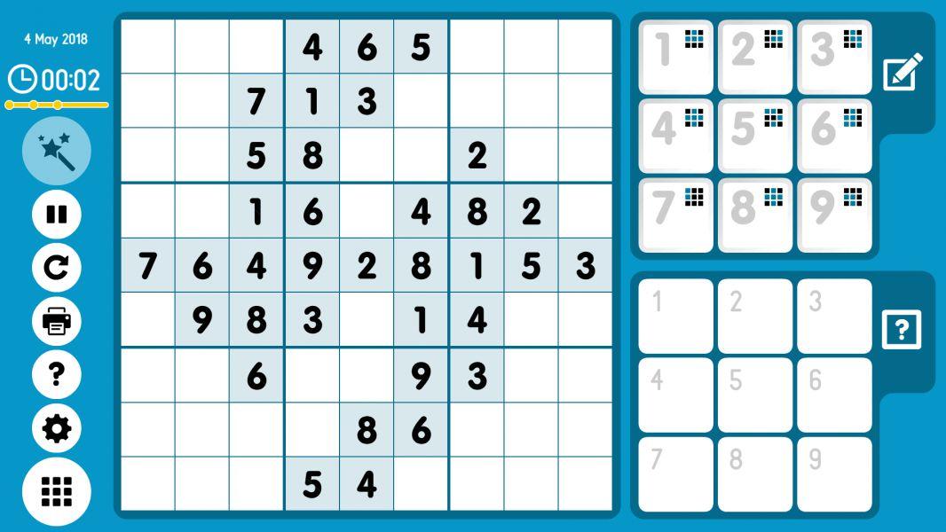 Level 2018-05-04. Online Sudoku